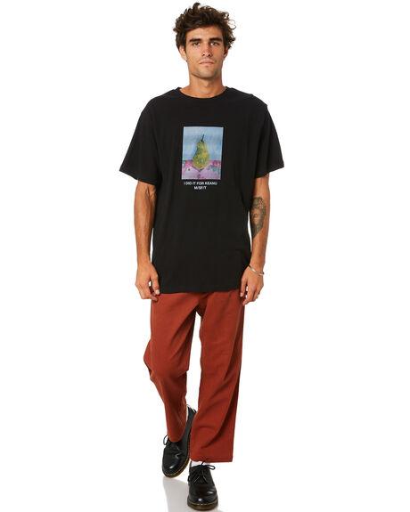 PITCH BLACK MENS CLOTHING MISFIT TEES - MT015005PBLK