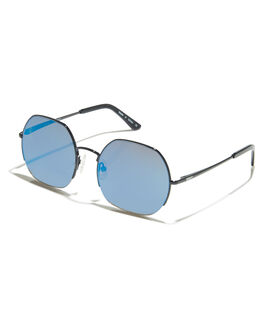 BLACK FLASH SKY BLUE WOMENS ACCESSORIES ROXY SUNGLASSES - ERJEY03057XKKB