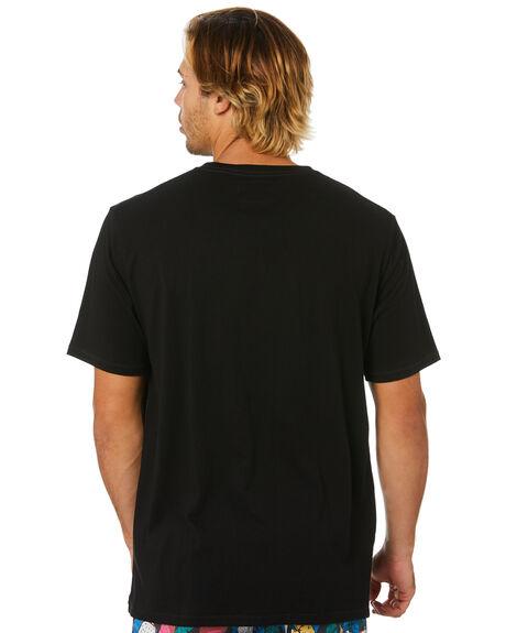 BLACK MENS CLOTHING BARNEY COOLS TEES - 106-CC4IBLK