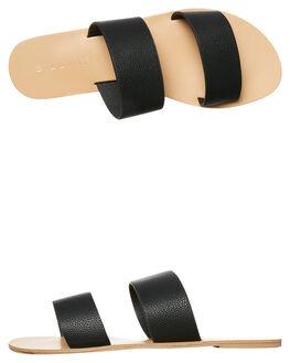 BLACK PEBBLE WOMENS FOOTWEAR BILLINI SLIDES - S404BLKPEB