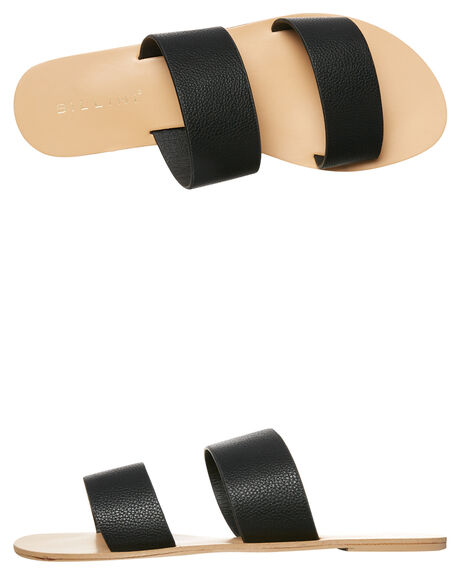 BLACK PEBBLE WOMENS FOOTWEAR BILLINI SLIDES - S404BLKPEB
