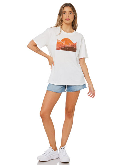 WASHED WHITE WOMENS CLOTHING SWELL TEES - S8214004WWHT