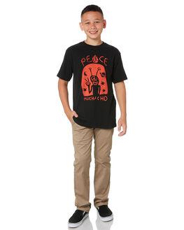 BLACK KIDS BOYS VOLCOM TOPS - C3512012BLK