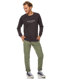 BLACK MENS CLOTHING RHYTHM JUMPERS - JUL17-FL01-BLK