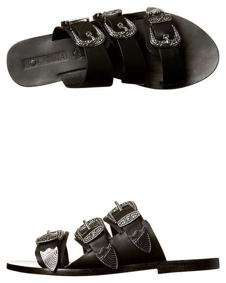 BLACK WOMENS FOOTWEAR SOL SANA FLATS - SS172W371BLK