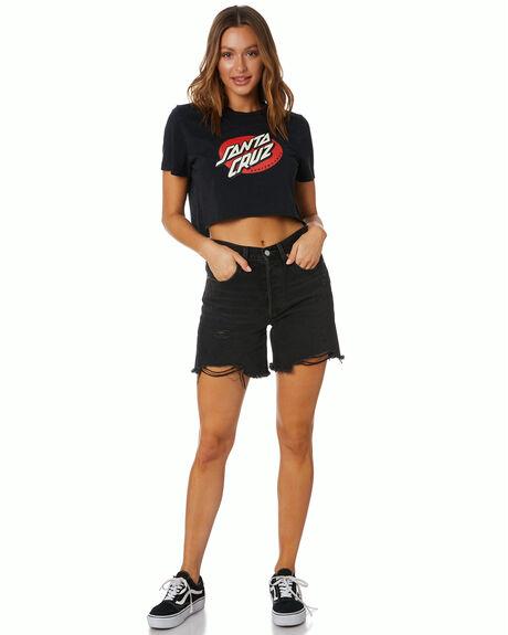 ACID BLACK WOMENS CLOTHING SANTA CRUZ TEES - SC-WTD0286ABLK