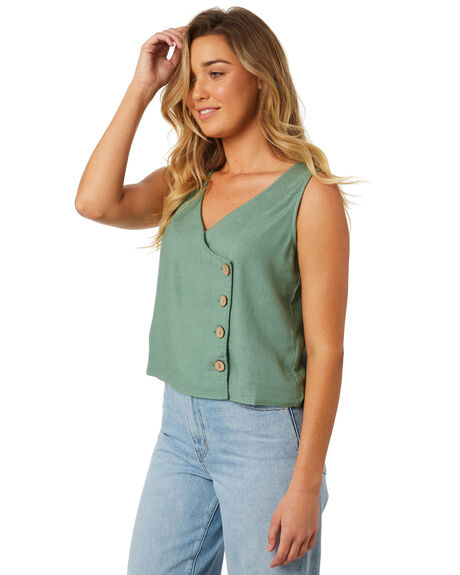 KHAKI WOMENS CLOTHING SWELL FASHION TOPS - S8184196KHAKI