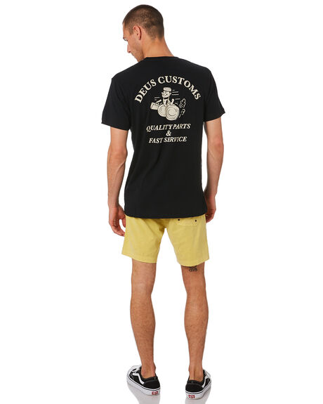 BLACK MENS CLOTHING DEUS EX MACHINA TEES - DMS91300FBLK