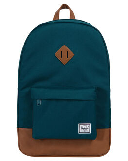 DEEP TEAL TAN MENS ACCESSORIES HERSCHEL SUPPLY CO BAGS + BACKPACKS - 10007-02108-OSTEAL