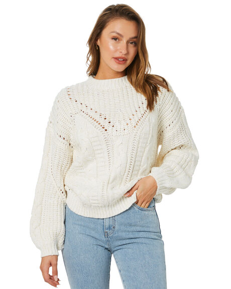 WHISPER WHITE OUTLET WOMENS RUSTY KNITS + CARDIGANS - CKL0396-WWH