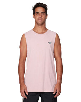 DUSTY PINK MENS CLOTHING RVCA SINGLETS - RV-R107001-D61