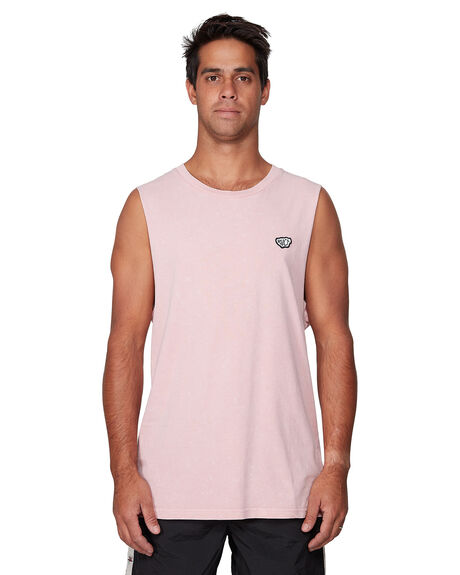 DUSTY PINK MENS CLOTHING RVCA SINGLETS - RV-R107001-D61