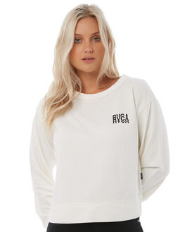 ANTIQUE WHIT WOMENS CLOTHING RVCA JUMPERS - R283151AWHT