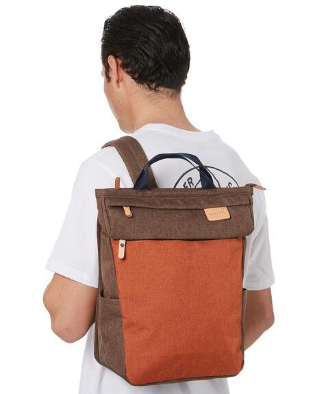 BROWN MENS ACCESSORIES HARVEST LABEL BAGS + BACKPACKS - HLO-0954-BRN