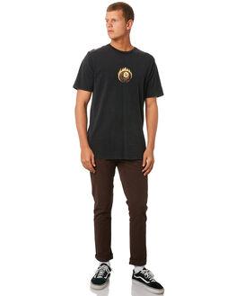 BLACK MENS CLOTHING VOLCOM TEES - A4311974BLK