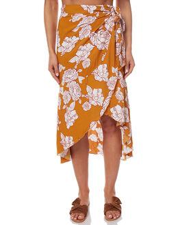 TOBACCO WOMENS CLOTHING RUE STIIC SKIRTS - SO1724PTOB