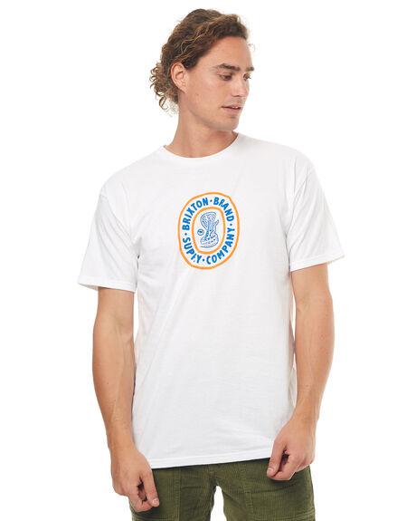 WHITE MENS CLOTHING BRIXTON TEES - 06848WHT