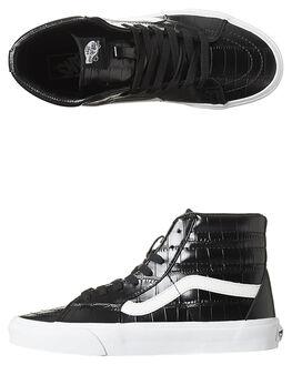 BLACK WOMENS FOOTWEAR VANS SNEAKERS - SSVN-02QGFCQBLKW