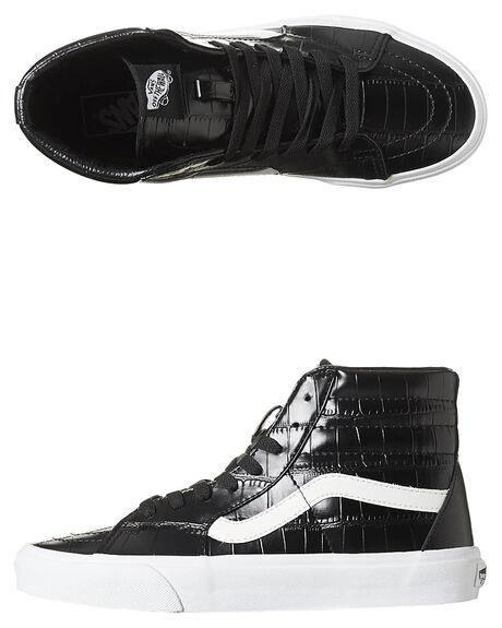 014cfbd960 Vans Sk8-Hi Womens Croc Leather Shoe - Black