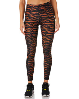 TIGER LEOPARD WOMENS CLOTHING THE UPSIDE ACTIVEWEAR - USW419090TIGLE