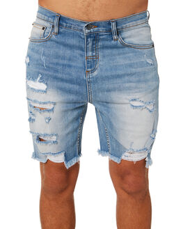 FADED BLUE MENS CLOTHING THE PEOPLE VS SHORTS - HS18038FBLU