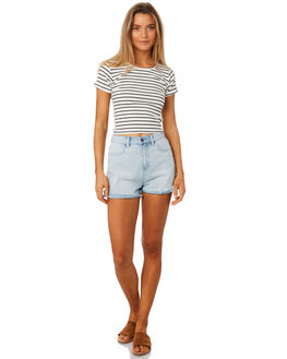 STRIPE WOMENS CLOTHING ALL ABOUT EVE TEES - 6405043STR