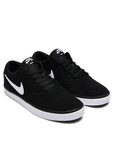 BLACK WHITE MENS FOOTWEAR NIKE SKATE SHOES - 843895-001