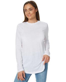 WHITE SLUB WOMENS CLOTHING THE FIFTH LABEL TEES - TJ170406TWHT