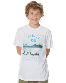WHITE KIDS BOYS HURLEY TEES - ABTSDVPH10A