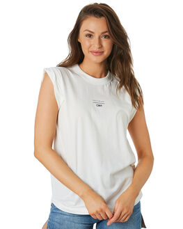 WHITE WOMENS CLOTHING C&M CAMILLA AND MARC SINGLETS - VCMT6992WHI