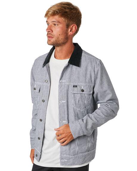 STRIPE MENS CLOTHING RVCA JACKETS - R193437STRIP