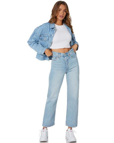 LIGHT BLUE WOMENS CLOTHING LEVI'S JACKETS - 36757-0002LBLU