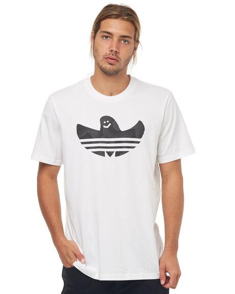 WHITE MENS CLOTHING ADIDAS ORIGINALS TEES - CF3110WHT