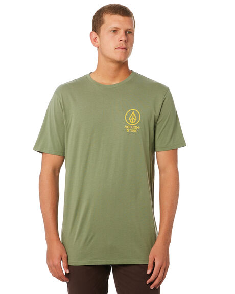 DUSTY GREEN MENS CLOTHING VOLCOM TEES - A5011904DGN