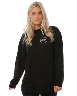 BLACK WOMENS CLOTHING STUSSY JUMPERS - ST185325BLK