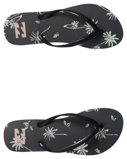 BLACK WOMENS FOOTWEAR BILLABONG THONGS - 6695803BLK