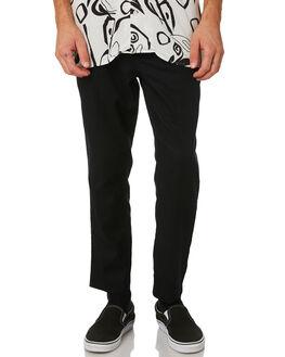 BLACK MENS CLOTHING ZANEROBE PANTS - 701-WORDBLK