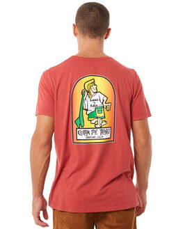 LIGHTHOUSE RED MENS CLOTHING KATIN TEES - TSKBL00LRED