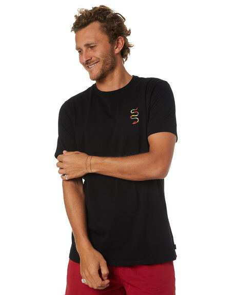 BLACK MENS CLOTHING SWELL TEES - S5183007BLACK
