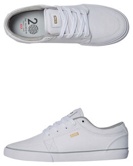 WHITE MENS FOOTWEAR GLOBE SKATE SHOES - GBGS-11763