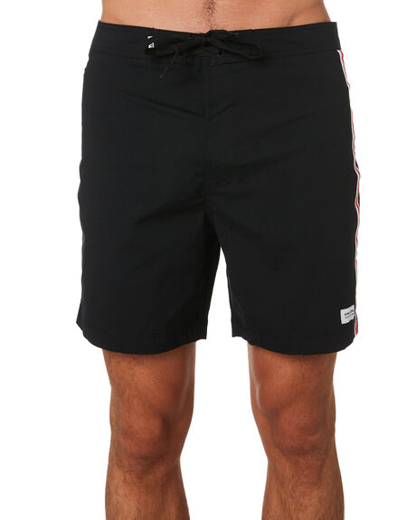 DIRTY BLACK MENS CLOTHING BANKS BOARDSHORTS - BS0172DBLK