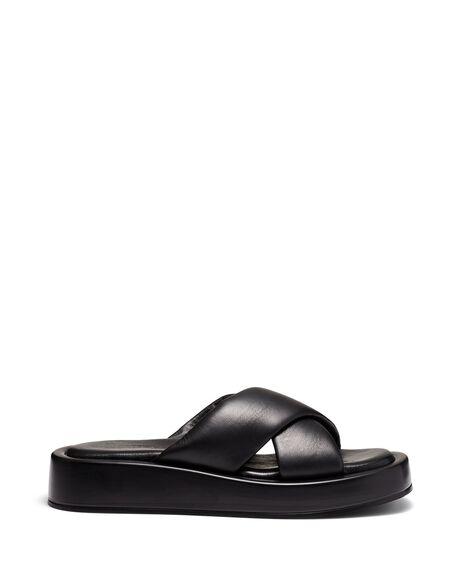 BLACK WOMENS FOOTWEAR JUST BECAUSE SLIDES - SOLE-JB1345BLK
