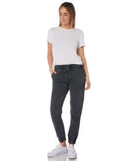 WASHED BLACK WOMENS CLOTHING SWELL PANTS - S8182191WSHBK