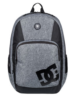 HEATHER CHARCOAL MENS ACCESSORIES DC SHOES BAGS + BACKPACKS - EDYBP03158KNYH