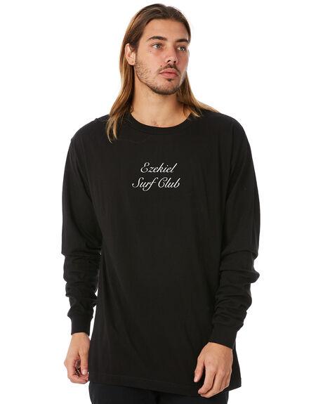 BLACK MENS CLOTHING EZEKIEL TEES - EM174074BLK