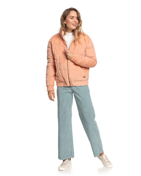 CAFE CREME WOMENS CLOTHING ROXY JACKETS - ERJJK03350-TJB0