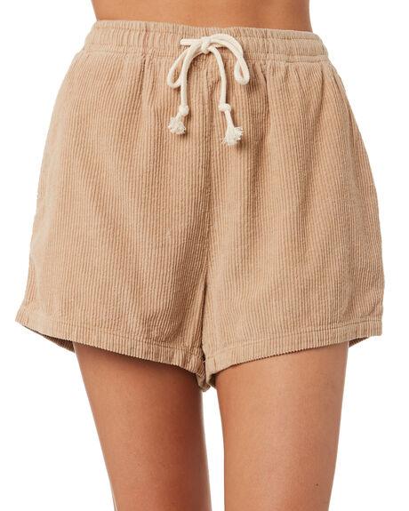 TAN WOMENS CLOTHING THRILLS SHORTS - WTW9-301CTAN