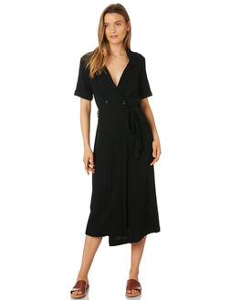 BLACK WOMENS CLOTHING RHYTHM DRESSES - APR19W-DR08-BLK