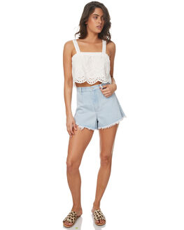 WASHED BLUE WOMENS CLOTHING ZULU AND ZEPHYR SHORTS - ZZ1681WBL