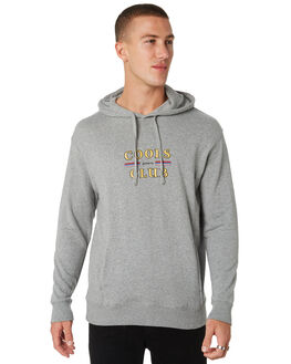GREY MELANGE MENS CLOTHING BARNEY COOLS JUMPERS - 403-CC1GREY